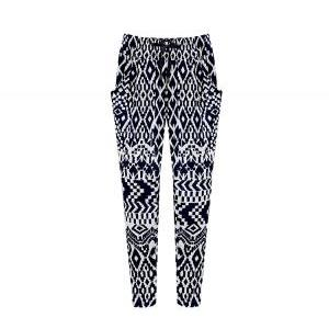 Black and White Geometric Print Peg..