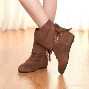 Cheap Winter Fashion Round Toe Slip..