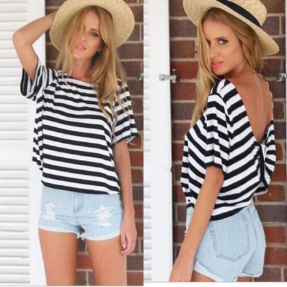 Striped Sailor Womens Short Sleeve ..