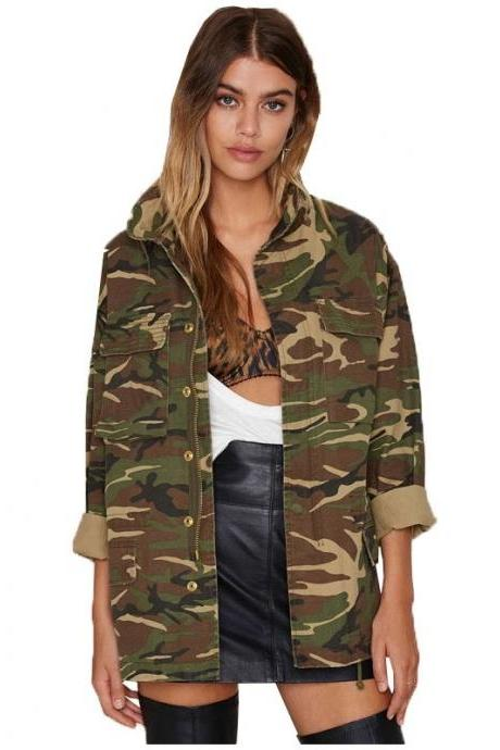 Spring Vintage Camouflage Army Green
